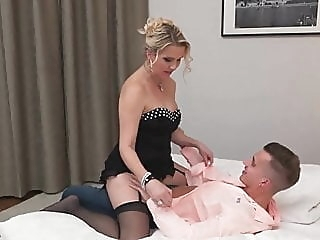 Milf eating her toy boys ass blowjob milf old & young