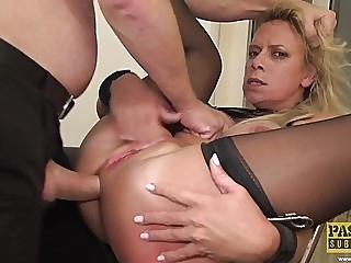 PASCALSSUBSLUTS - Tied Up MILF Sasha Steele Dominated blonde bdsm milf