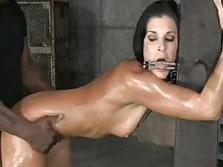 Bondage breeding leaves her shaking hardcore bdsm creampie