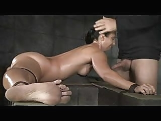 Flexible slut bound in splits,spitroasted, and BBC creampied bdsm top rated creampie