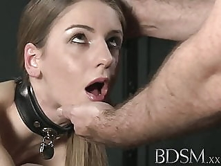 BDSM XXX Young big breasted sub gets hard anal from master anal blowjob hardcore