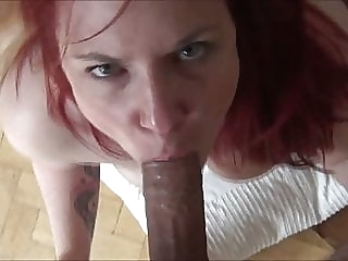 Cuckold fickt in fremdes Sperma amateur close-up redhead
