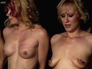 Dr. Lomp - Anette's debute as a paintoy bdsm blonde fetish