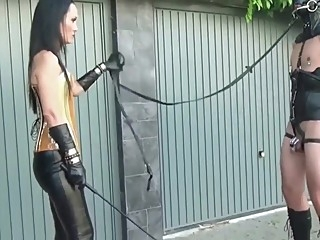 Chastity Dressage Training bdsm femdom outdoor