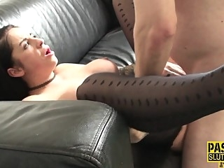 Fetish slut in pantyhose gets fingered bdsm fetish fingering