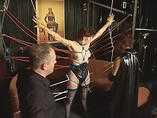 German amateur tied up bdsm brunette fetish