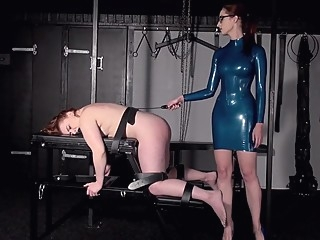 Lesbian Mistress - Spanking and Whipping bdsm femdom fetish