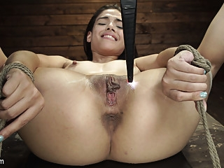 Harmony Wonder in Harmony Wonder: 19 Year Old Tormented and Cums in Grueling Bondage - HogTied bdsm fetish fingering