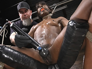 Ana Foxxx in Ana Foxxx: Racked, Bound, and Tormented - HogTied bdsm ebony fetish