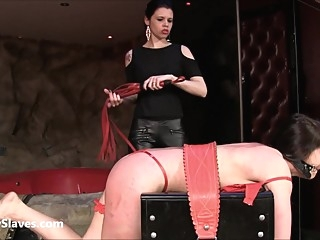 Latina slaveslut Demi dominated in lesbian bdsm bdsm femdom fetish