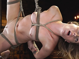 Charlotte Sins in Charlotte Sins: Tall Blonde Beauty Makes Her Debut - HogTied bdsm blonde fetish