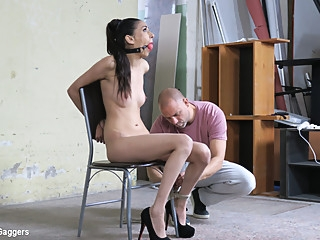 Tyna Gold & Arjan in Ashley Ocean Ballgagged And Slapped - KINK bdsm fetish high heels