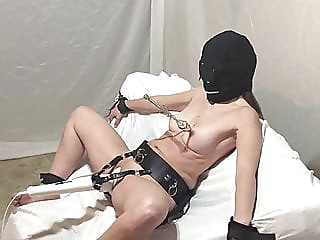 My Slave Enjoying Her Hitachi For Your Viewing Enjoyment amateur sex toy bdsm