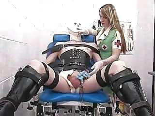Mistress Miranda with male sub pornstar bdsm british