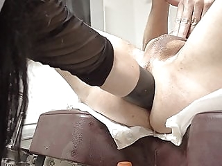 Double fisting, wrecked ass, huge toy, extreme domina anal bdsm femdom