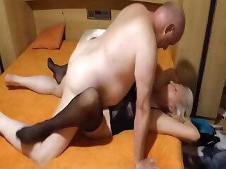 A stranger fucks my become man plus cums inside her stranger fucks plus
